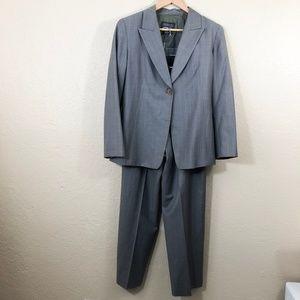 Lafayette 148 Pinstriped 2 Piece Pants Suit 8